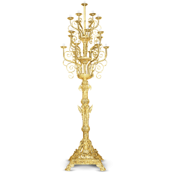 CANDELABRA ALUM. No19 GOLD PAINTED